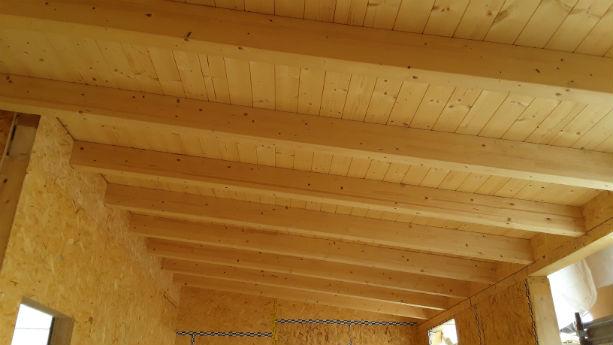 bernareggio - soffitto travi in legno