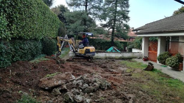 casatenovo - lavori giardino